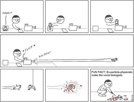 biologo fisico cartoon