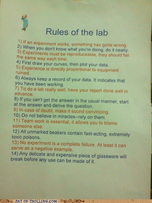 listagem de regras humorísticas