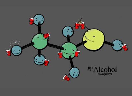 álcool etílico divertido