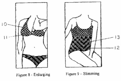 invenção de uma roupa com ilusão de óptica