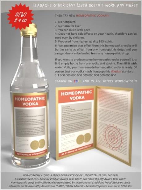 garrafa de vodka homeopatica